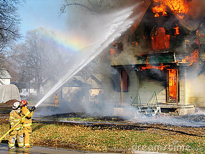 Putting Out The Fire Royalty Free Stock Photography  Image 2450237