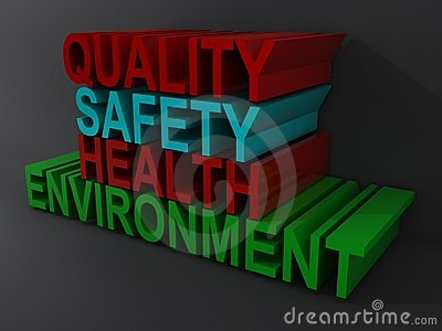 Quality Safety Health Words Stock Photography Image
