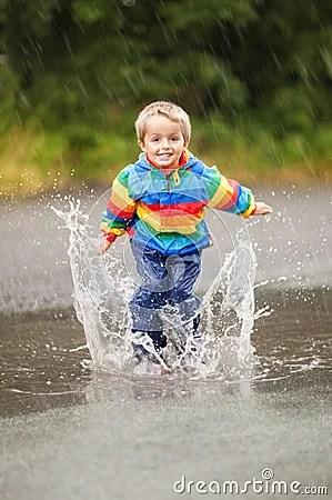 Rain Puddles Stock Photo Image 43839787