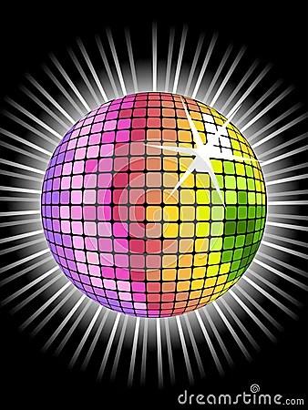 S Animation Wallpaper Rainbow Disco Ball Stock Photo Image 9787090