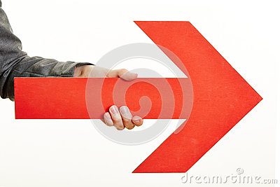 Red Arrow Pointing To The Right Royalty Free Stock Photo  Image 32077545