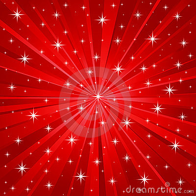 3d Snow Falling Wallpaper Red Stars Vector Background Royalty Free Stock Image