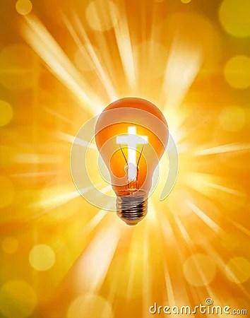Holy Cross 3d Wallpaper Religion Cross Light Bulb Christianity Stock Images