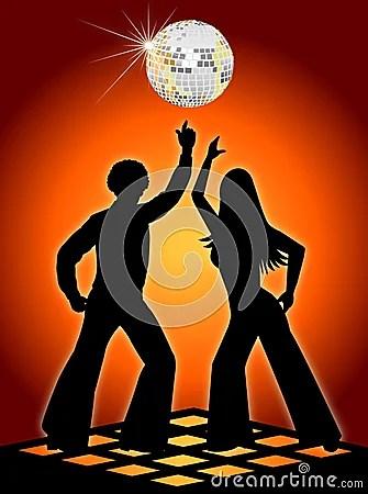 3d Graphics Wallpaper Free Download Retro Disco Dancers Orange Royalty Free Stock Photos
