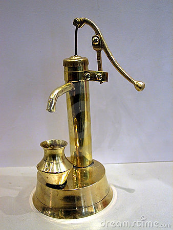 Retro Water Hand Pump Model Royalty Free Stock Photography