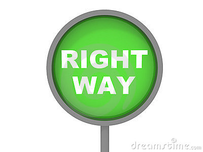 Right Way Sign Royalty Free Stock Photo  Image 4198575