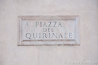 Road Sign Indicating A Street Name In Italian Stock Photo