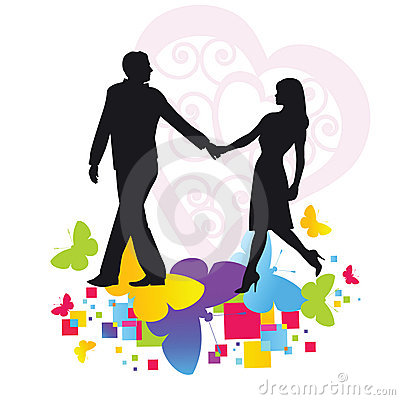 romantic stroll clip art cliparts