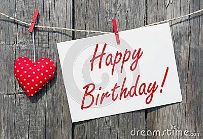 Rustic Happy Birthday Message Stock Photo Image Of Simple Birthday 40008966