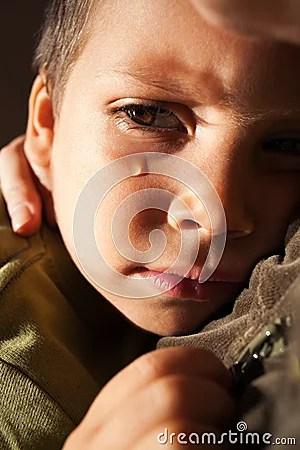 Sad Child Crying Stock Images  Image 24040224