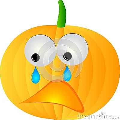 sad pumpkin stock