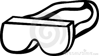 Safety Goggles With Strap Vector Illustration Royalty Free