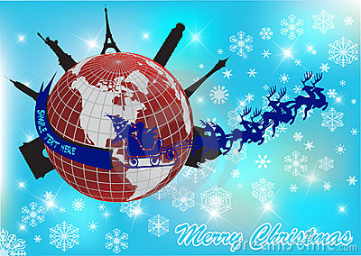 styles of chairs names blue velvet accent chair santa around the world stock image - image: 17217121