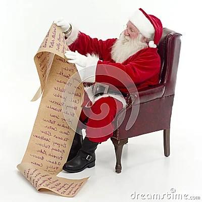 Santa Checking His List Royalty Free Stock Photo  Image