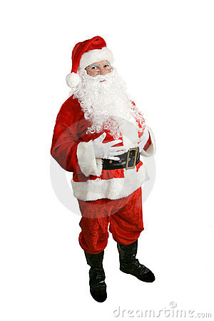 Santa Claus Full Body Isolated Royalty Free Stock Photo