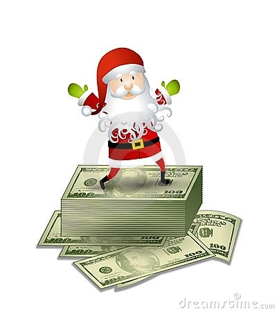 Santa Claus Money Cash Stock Photos Image 7171683