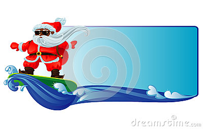 Santa Claus Surfing Royalty Free Stock Images Image