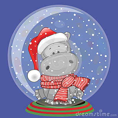Santa Hippo Stock Vector Image 46924256
