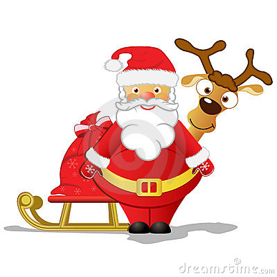 Santa And Rudolph Stock Photos Image 11773993