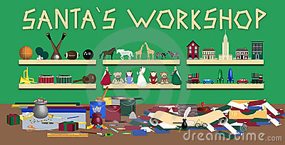 Santas Workshop Stock Images Image 7432734