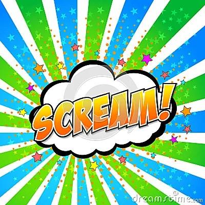 Scream! Comic Speech Bubble, Cartoon Royalty Free Stock