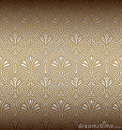Seamless Art Nouveau Pattern Stock Photography  Image 18518812