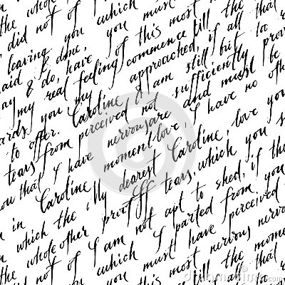 Seamless Pattern With Handwriting Text Stock Vector