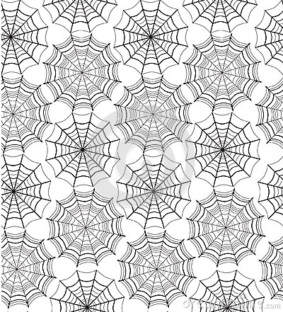 Skeleton Pattern Wallpaper Cute Seamless Pattern With Spiders Web Stock Images Image