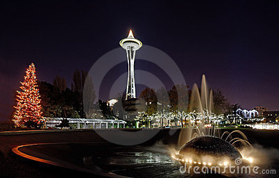 Seattle Center Christmas Lights Stock Photos Image 23436453