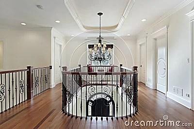 Second Floor Landing In Luxury Home Stock Photography