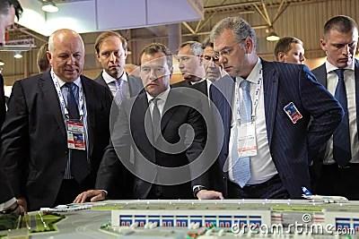 Sergey Chemezov, Dmitry Medvedev And Dmitry Shuga ...