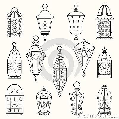 Old Lantern Drawing Sketch Coloring Page