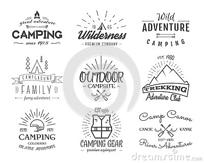 Set Of Retro Badges And Label Logo Graphics Stock Vector