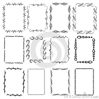 A Set Of Twelve Rectangular Framework. Manual Sketch