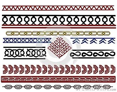 Set Of Viking Border Designs Stock Illustration  Image