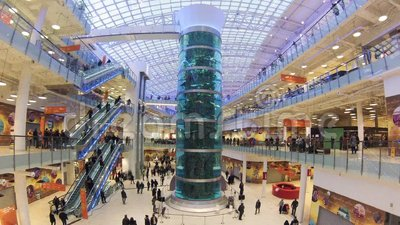 Shopping Mall AVIAPARK Moscow Russia Just Opened Biggest Shopping Mall In Europe Stock