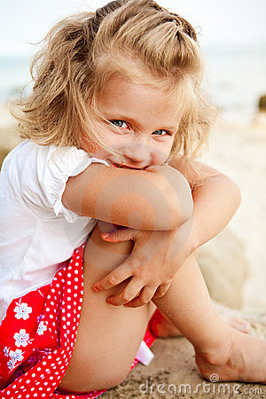 Shy Little Girl Stock Photos  Image 13232903