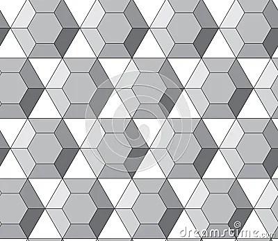 Sweet Animals Wallpaper Simple Vector Pattern Hexagonal Diamonds Royalty Free