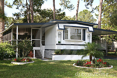 Single Wide Mobile Home Royalty Free Stock Photography - Image: 10728207