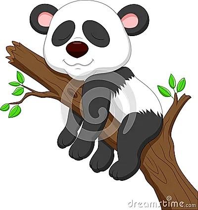 Sleeping Panda Cartoon Stock Photo  Image 33235600