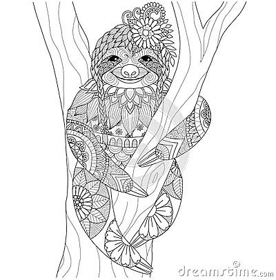 Sloth Stock Vector Image 65672013