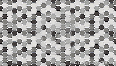 Small Hexagonal Tiles Seamless Of Marble Stock Photo