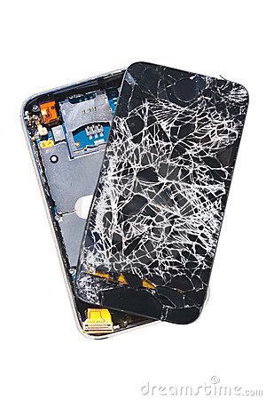 Smashed Cell Phone Royalty Free Stock Photos  Image 8100268