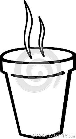 Smoking Hot Coffee In Styrofoam Cup Vector Royalty Free