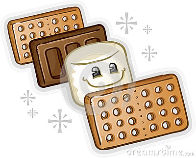 Smores Marshmallow Cartoon Character Royalty Free Stock Images  Image 29589889