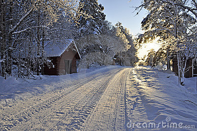 Beautiful 3d Wallpaper Images Snow Covered Country Road Stock Photos Image 12327163