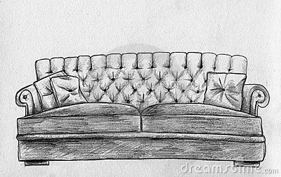 Sofa  Pencil Sketch Stock Images  Image 16654464