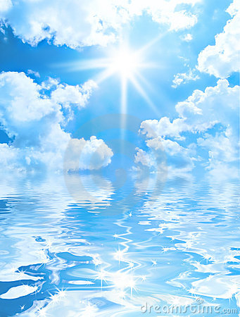 Water Animation Wallpaper Solar Sky Background Royalty Free Stock Photography