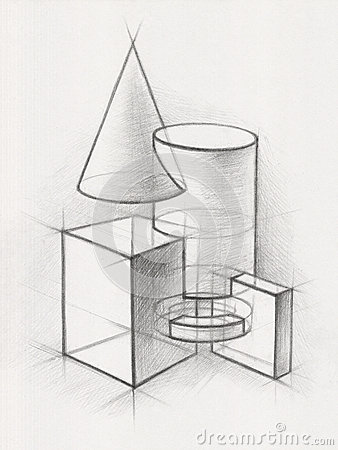 Solid Geometric Shapes Stock Image  Image 34559751