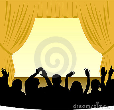 Stage And Audience Stock Photography  Image 858782